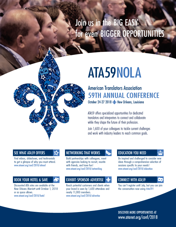 Image result for American Translators Association 59th Annual Conference